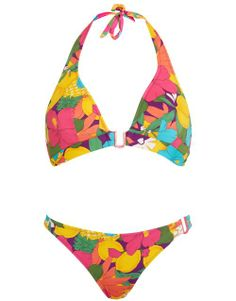 Huit Summer Love Foam Triangle Bikini Set in Sunlight #SS14SWIM #TotallyTropical #figleaves