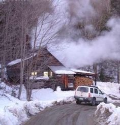 Late February into March is maple sugar season in Vermont. The sugar shacks are working hard! We went annually to a sugar shack that served breakfast rustic style.