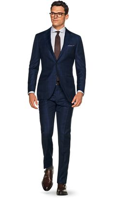 Suit Blue Check Lazio P5292 | Suitsupply Online Store
