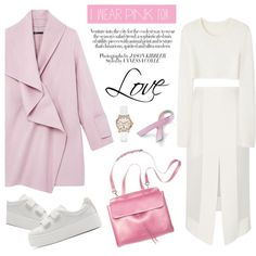 I wear pink for positive thinking by stellaasteria on Polyvore featuring moda, Calvin Klein Collection, Vince, Dion Lee, Kenzo, GUESS, Bling Jewelry and IWearPinkFor