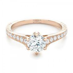 Custom Rose Gold Diamond Engagement Ring Joseph Jewelry | Bellevue | Seattle