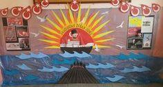 Samsun'dan doğan güneş  panosu.Ç.A.Lisesi