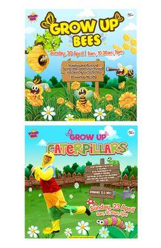 BUGS-- #kidsministry #kidsdesign #bee #caterpillar #graphicdesign #ilustrator #vector