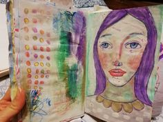 Purple Hair, Sketchbooks, Girl Hairstyles, Journals, Mixed Media, That Look, My Love, Drawings, Lace