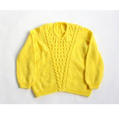 vintage BRIGHT CANARY yellow bauble pullover sweater