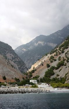 The view of the bottom of the gorge, samaria gorge, Crete