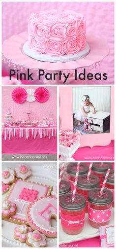 Here are some fantastic pink party ideas for a special 1st birthday party! Love how girly it is! See more party ideas at CatchMyParty.com.