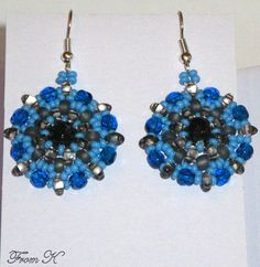 Twin Beads, Super Duo, Beaded Earrings, Type 3, Seed Beads, Beading, Facebook, Formal, Stylish