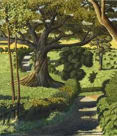 View Descending from Toplane by Simon Palmer on artnet. Browse upcoming and past auction lots by Simon Palmer. Landscape Drawings, Landscape Art, Landscape Paintings, Landscapes, Landscape Prints, Tree Illustration, Gravure, Painting & Drawing, Scenery