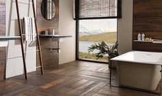Hampton Brown Porcelanosa Par-Ker cermaic parquet - wood-look ceramic tiles - gorgeous!
