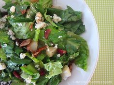 Mary Ellen's Cooking Creations: Recipe Swap: Autumn Salad Lisa's Kitchen, A Food, Good Food, Easy Weeknight Meals, Seaweed Salad, Soup And Salad, Brunch Recipes, Green Beans, Spinach
