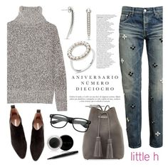 """""""Denim chic by Little h Jewelry"""" by littlehjewelry ❤ liked on Polyvore featuring Tu Es Mon Trésor, Theory, Sinclair, H&M, Tom Ford and Mary Kay"""