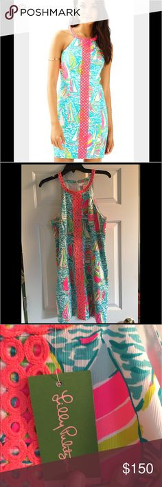 NWT Lilly Pulitzer dress NWT Lilly Pulitzer women's dress size 10. This is the Sasha dress & is so cute for the summer time! Perfect for a beach date 😘❤️ Lilly Pulitzer Dresses