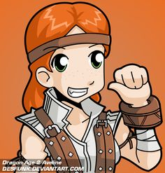 Dragon Age 2 Aveline by desfunk.deviantart.com on @deviantART