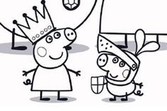 Peppa Pig colouring activity