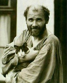 Gustav Klimt et son chat, Katze