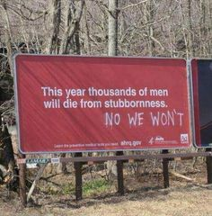 Funny pictures about Stubborn Men. Oh, and cool pics about Stubborn Men. Also, Stubborn Men photos. Funny Quotes, Funny Memes, Funniest Memes, Videos Funny, Dankest Memes, Funny Ads, Humour Quotes, Quotes Pics, That's Hilarious
