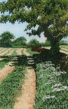 Machine embroidered picture by Alison Holt BA textile artist