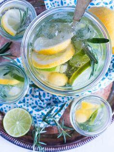 Citrus-Mango Spritz mit Rosmarin [ Infused Water } | Meine Küchenschlacht