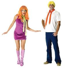 Scooby-Doo Fred and Daphne Couple Costumes