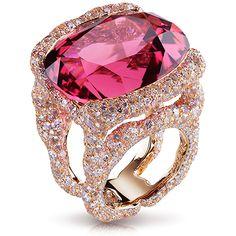Katharina Rose Ring - Faberge (Tourmaline, diamonds and moonstone)