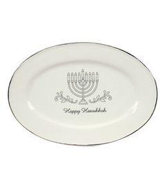 Hanukkah Ceramic Dolomite Oval Platter: Hanukkah: home decor: Shop | Joann.com