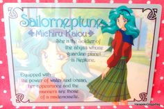 A shitajiki / illustration picture board for the Japanese shojo anime, Sailor Moon. The stationery item with the illustration of Sailor Neptune / Michiru Kaiou is for Sailor Moon S.