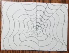 How to Draw an Op Art Bullseye - Art by Ro Drawing Practice, Line Drawing, Drawing Ideas, Illusion Drawings, Bridget Riley, Victor Vasarely, White Highlights, Vanishing Point, Perspective Drawing