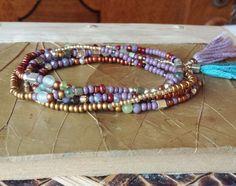 Kokopelli Combo Beaded Wrap Bracelets  Choose One or All