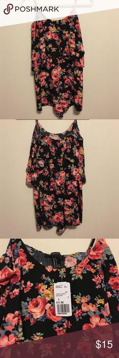 NWT Forever 21 Ruffle Flower Print Romper NWT Forever 21 Ruffle Flower Print Romper!! Brand new, never worn. Adorable flower print with ruffles. Perfect for summer. Dress it up or down. Forever 21 Dresses