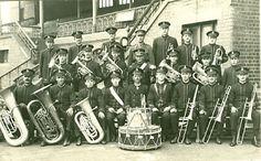 PH 60691. South Yarra & Toorak Citizen's Band, probably at Burnie, Tas, c.1920.