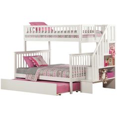 Bed for Madison's room  Woodland Twin Over Full Bunk Bed with Trundle & Stairs