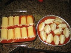 Make ahead meal - stuffed shells & roll-ups using lasagne noodles