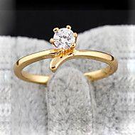 Ку-Ню Женская золотое покрытие Циркон 4мм кольцо ... – RUB p. 137,99