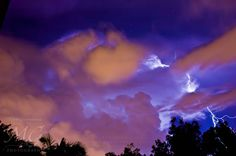 Storm over Albion, lightning, storm chase, extreme weather, Brisbane
