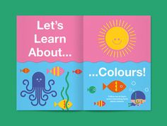 DOT magazine - The Colours Issue on Behance Kids Graphic Design, Graphic Design Typography, Book Cover Design, Book Design, Editorial Design Magazine, Kids Web, Magazin Design, Kids Activity Books, Drawing Activities