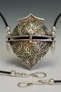 Slide Box by Terry Kovalcik - Featured on the cover of the Art and Design of Metal Clay Jewelry 2012 by Holly Gage