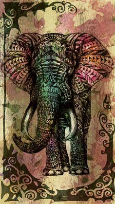 Tribal Elephant iPhone 6 Plus Wallpaper Tribal Elephant Art, Buddha Elephant, Mandala Elephant, Elephant Love, Cartoon Elephant, Elephant Phone Wallpaper, Iphone 6 Plus Wallpaper, Animal Wallpaper, Mandala Nature