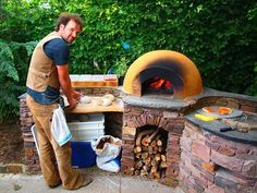 tandoor oven, prep station and Pizza oven Diy Pizza Oven, Pizza Oven Outdoor, Outdoor Cooking, Pizza Ovens, Wood Oven, Wood Fired Oven, Grill Oven, Bbq Grill, Pizza Oven Fireplace