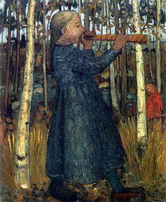 Paula Modersohn-Becker - Girl in a forest