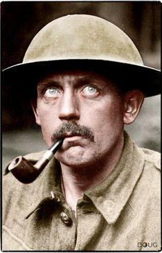 Portrait of an unknown British soldier taken prisoner by the Germans, April 1918. (© IWM Q 24045)