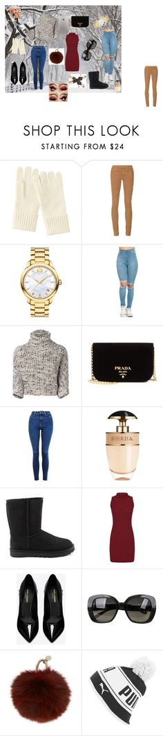 """""""polyvore 1.03 set"""" by explorer-14762790167 ❤ liked on Polyvore featuring Uniqlo, AG Adriano Goldschmied, Movado, Brunello Cucinelli, Prada, Topshop, UGG, Yves Saint Laurent, Bottega Veneta and Yves Salomon"""