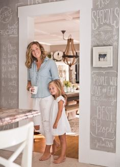 Bre Doucette finds farmhouse style interior design solutions outside the box for her home in Candia, New Hampshire. Accent Wall In Kitchen, New Hampshire, House Tours, Farmhouse Style, Budgeting, Home Improvement, Interior Design, Accent Walls, Dream Houses