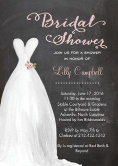 Bridal Shower Invitation Chalkboard Pink | Bridal Shower Invitations Cards | By tumbalina | Snapfish