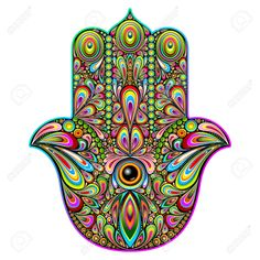 Hamsa Hand Psychedelic Art Royalty Free Cliparts, Vectors, And ...