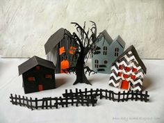 Ann-Kay Home: DIY Mini Paper Houses Part 3 - The Halloween Village