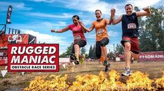 """Rugged Maniac Obstacle Course - July 29th,2017.  Spruce Meadows #obstaclecourse #yyc #fun #mud #waterslides #puddles #tummels #eventprofs 'Remember when you were a kid and you used to run around outside with your friends climbing trees, jumping in puddles, playing tag, and just plain having fun? Well Rugged Maniac is simply an adult version of that! We build 25+ epic obstacles for you and your friends to play on (like fire jumps, water slides, trampolines, and underground tunnels), put them…"