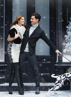 Celebrate the Holidays Fashionably | David Gandy, Sean OPry, Simon Nessman + More Charm in Holiday 2013 Advertisments image banana republic holiday 2013 campaign garrett neff 0002