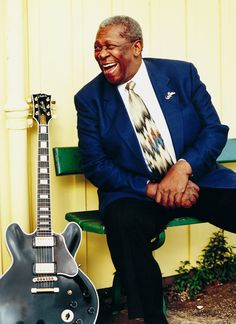 B.B. King is an American blues guitarist and singer-songwriter. Rolling Stone magazine ranked him at No. 6 on its list of the 100 greatest guitarists of all time. King was inducted into the Rock and Roll Hall of Fame in Bb King, Cyndi Lauper, Jazz Blues, Blues Music, Music Is Life, My Music, Blue Soul, Dr Hook, Photo Portrait