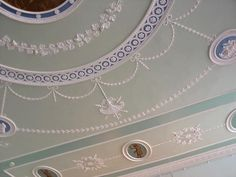 Ceiling in the Adam style, circa 1770
